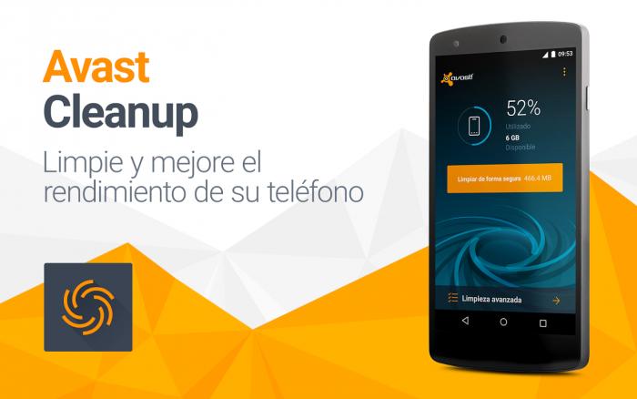 Avast Cleanup; aplicación para mejorar el rendimiento de tu Android