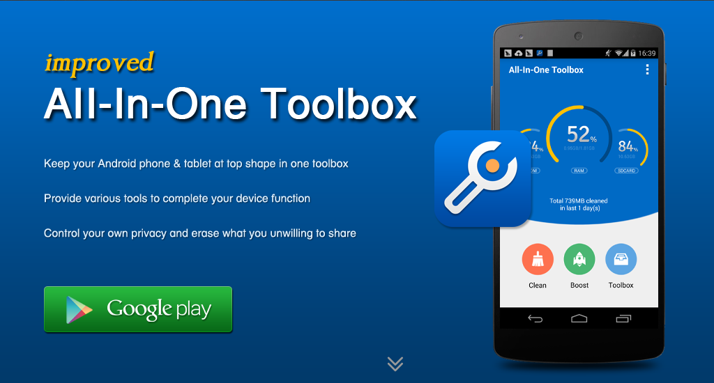 All-In-One Toolbox; aplicación para limpiar y optimizar tu Android